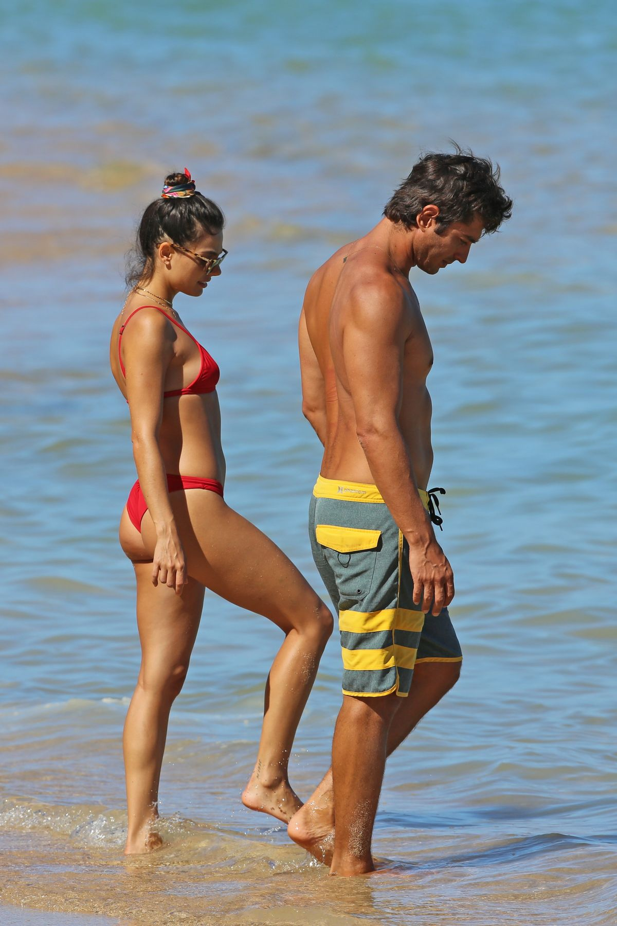Isis Valverde in Red Bikini on the beach in Hawaii Pic 29 of 35
