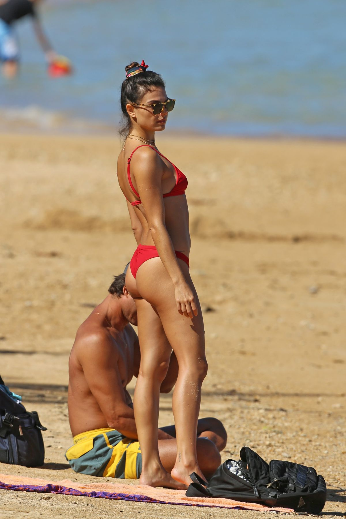 Isis Valverde in Red Bikini on the beach in Hawaii Pic 8 of 35