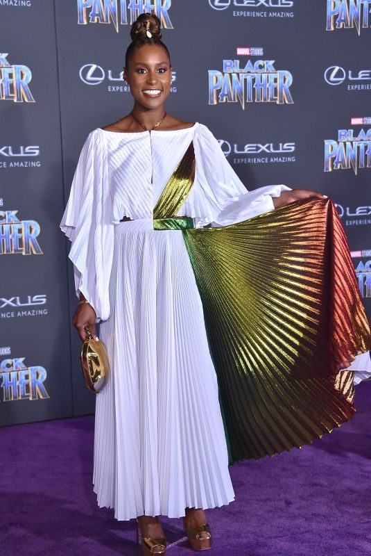 ISSA RAE at Black Panther Premiere in Hollywood 01/29/2018