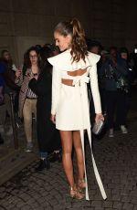 IZABEL GOULART Arrives at Valentino Fashion Show in Paris 01/24/2018