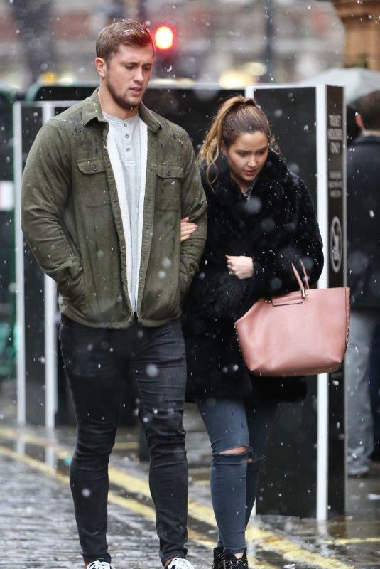 JACQUELINE JOSS and Dan Osborne Out London 01/21/2018