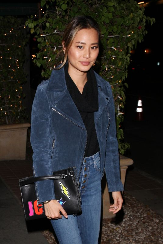 JAMIE CHUNG Out for Dinner at Madeo in West Hollywood 01/18/2018