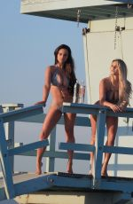 JAMIE LEIGH and KINSEY WOLANSKI in Bikinis for 138 Water at Venice Beach 01/24/2018