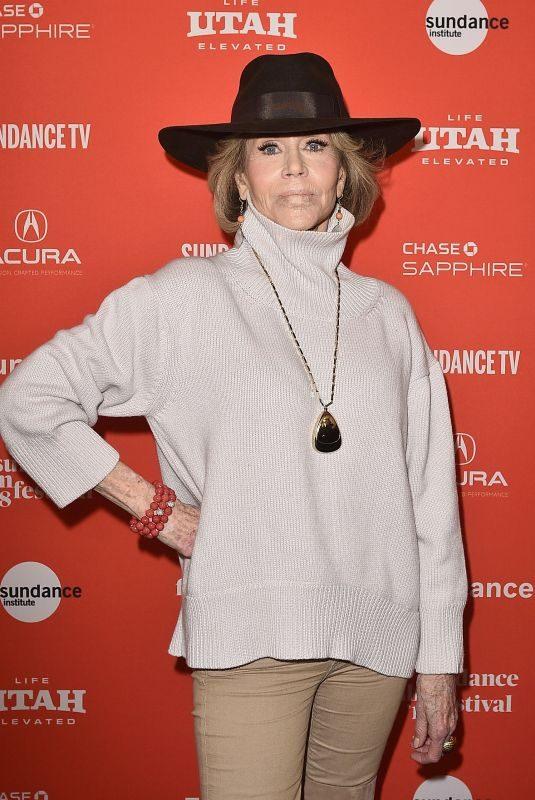 JANE FONDA at Jane Fonda in Five Acts Premiere at 2018 Sundance Film Festival 01/20/2018