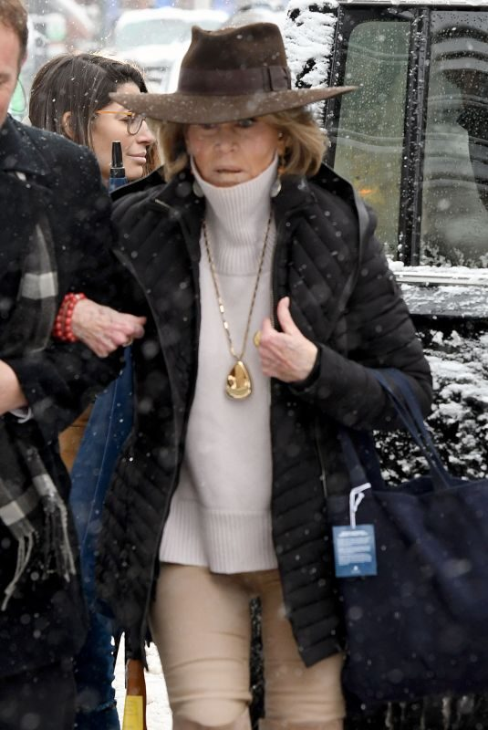 JANE FONDA Out at Sundance Film Festival 01/20/2018
