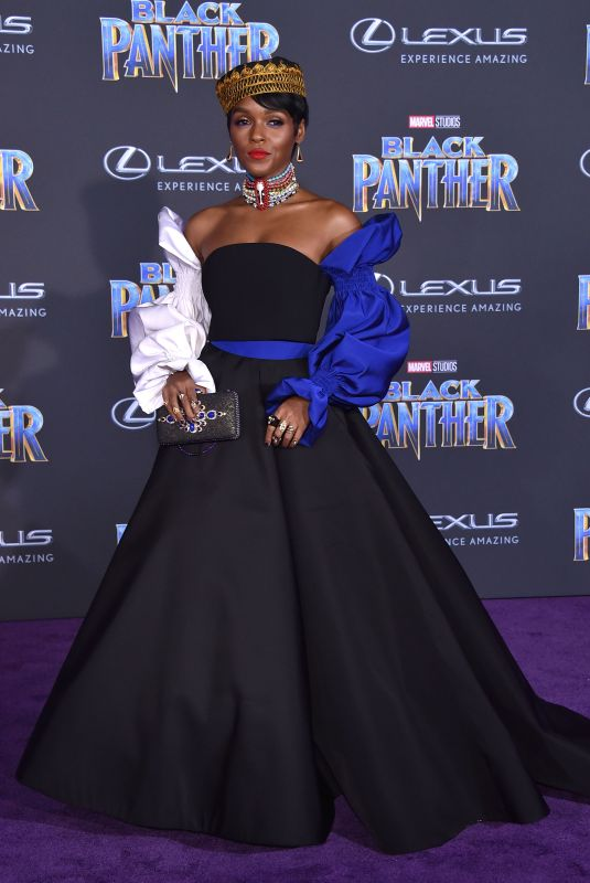 JANELLE MONAE at Black Panther Premiere in Hollywood 01/29/2018