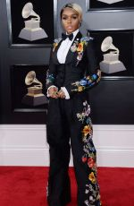 JANELLE MONAE at Grammy 2018 Awards in New York 01/28/2018