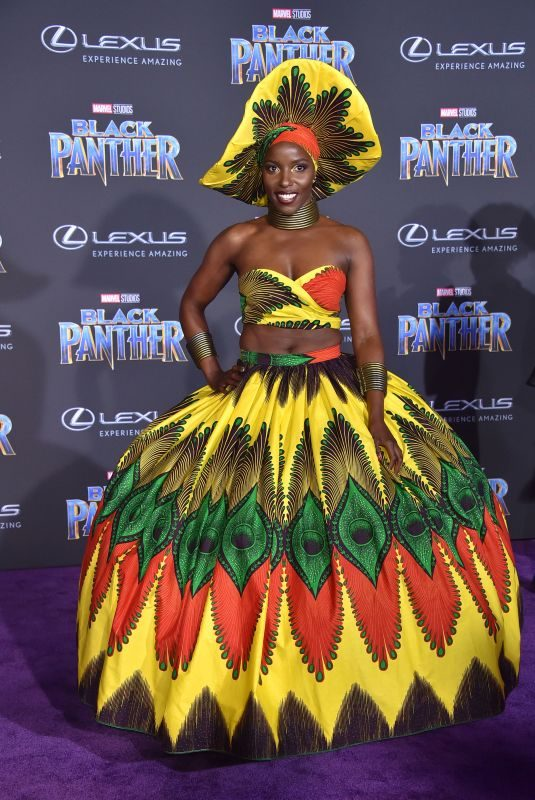 JANESHIA ADAMS-GINYARD at Black Panther Premiere in Hollywood 01/29/2018