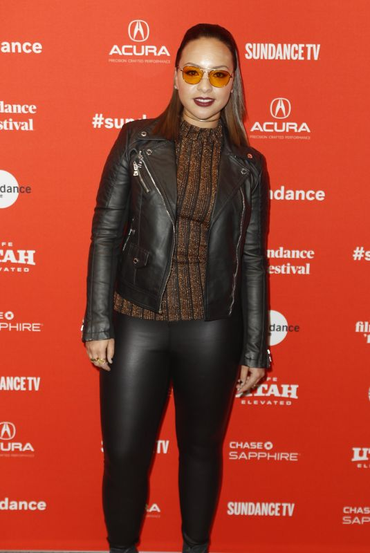 JASMINE CEPHAS JONES at Blindspotting Premiere at 2018 Sundance Film Festival in Park City 01/18/2018