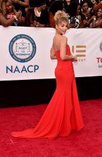JASMINE SANDERS at 49th Naacp Image Awards in Pasadena 01/14/2018