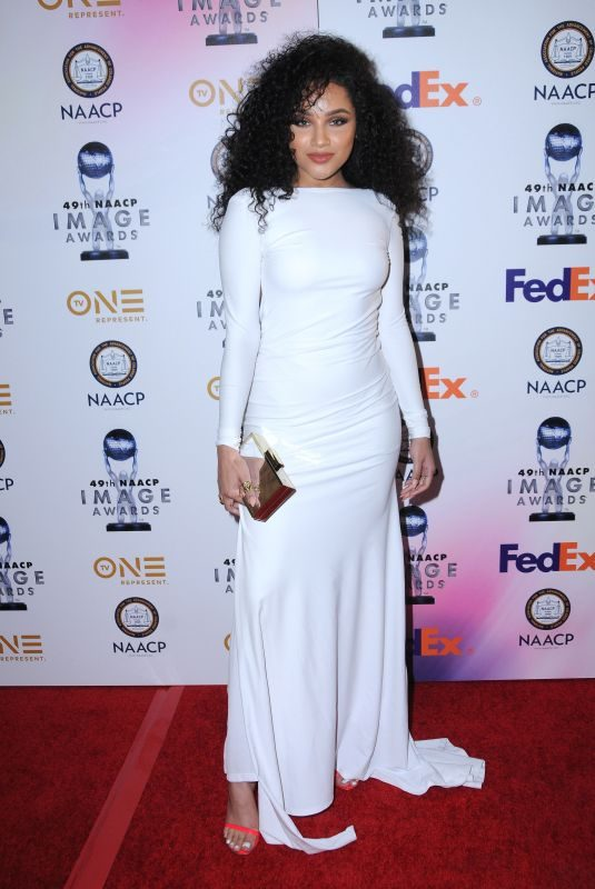 JAYLEN BARRON at 49th Naacp Image Awards in Pasadena 01/14/2018