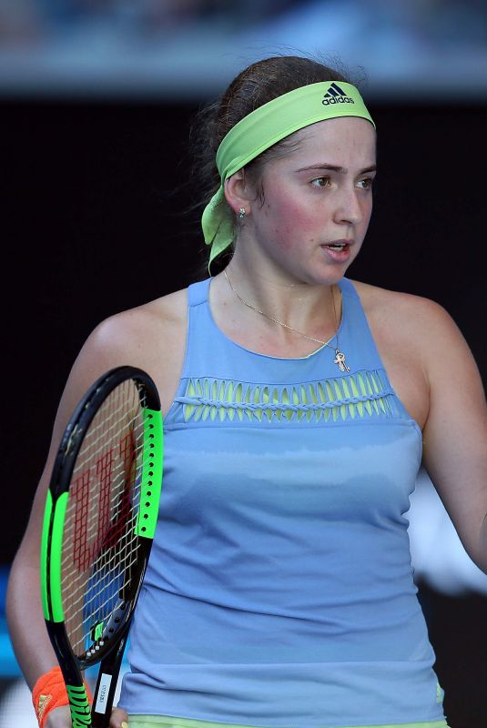 JELENA OSTAPENKO at Australian Open Tennis Tournament in Melbourne 01/17/2018