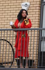 JEMMA LUCY Out on the Balcony in Manchester 01/27/2018