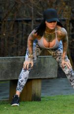 JEMMA LUCY Workingout at a Park in Manchester 01/20/2018
