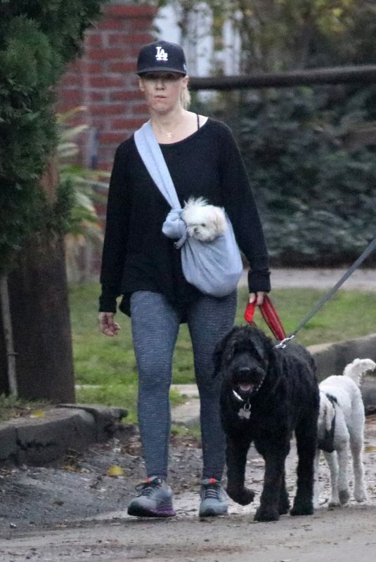 JENNIE GARTH Out with Her Dogs in Los Angeles 01/16/2018