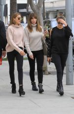 JENNIFER FLAVIN and SOPHIA and SISTINE STALLONE Out Shopping in Beverly Hills 01/03/2018