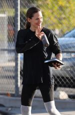 JENNIFER GARNER Out for Coffee After Morning Workout in Brentwood 01/13/2018