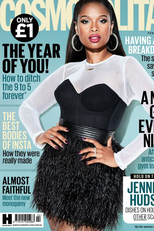 JENNIFER HUDSON in Cosmopolitan Magazine, UK February 2018 Issue