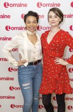 JENNIFER KIRBY and LEONIE ELLIOT at Lorraine TV Show in London 01/19/2018