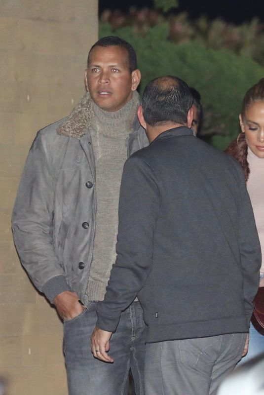 JENNIFER LOPEZ and Alex Rodriguez at Nobu in Maliby 01/01/2018