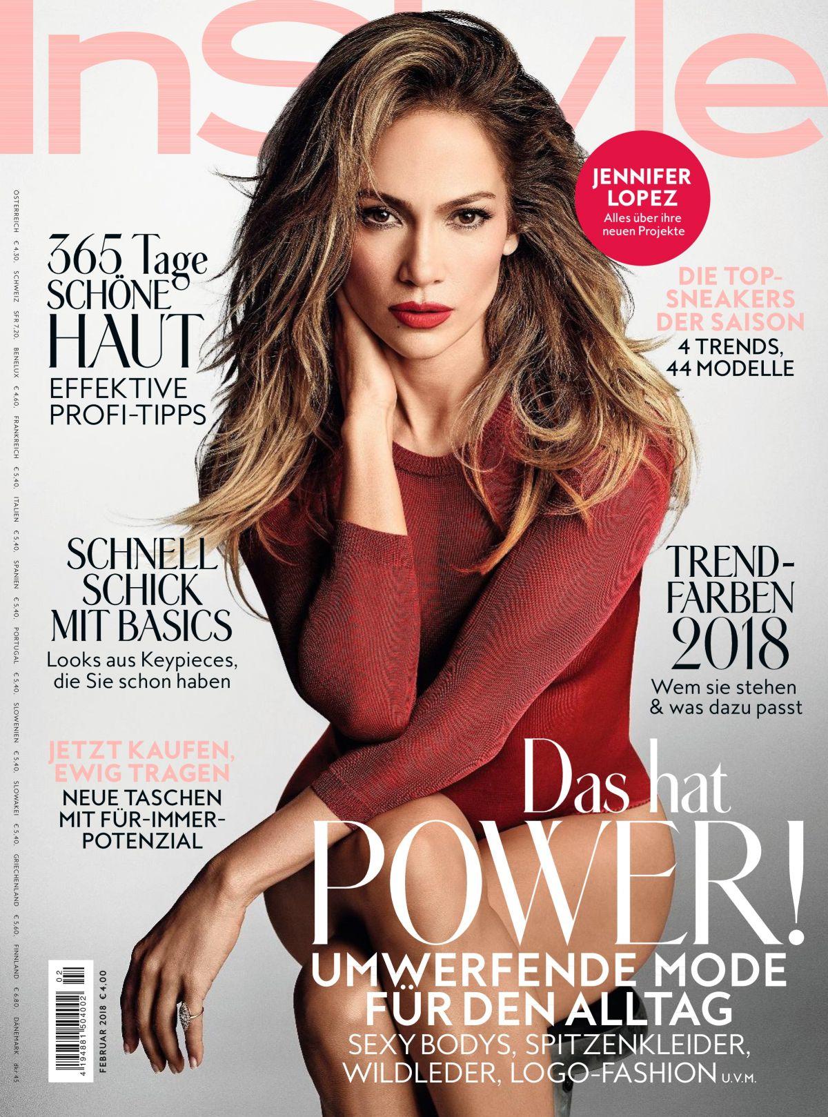 JENNIFER LOPEZ In Instyle Magazine, Germany Februar 2018