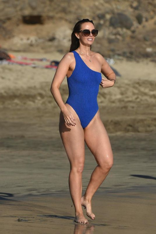 JENNIFER METCALFE in Swimsuit at a Beach in Tenerife 01/20/2018