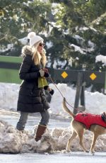 JENNIFER WESTFELDT Out with Her Dog in Central Park in New York 01/09/2018