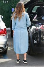 JESSICA ALBA Arrives at a Spa in Los Angeles 01/27/2018