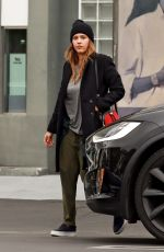 JESSICA ALBA Shopping at Fred Segal in Los Angeles 01/19/2018