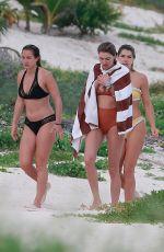 JESSICA and ASHLEY HART in Bikinis at a Beach in Tulum 01/01/2018