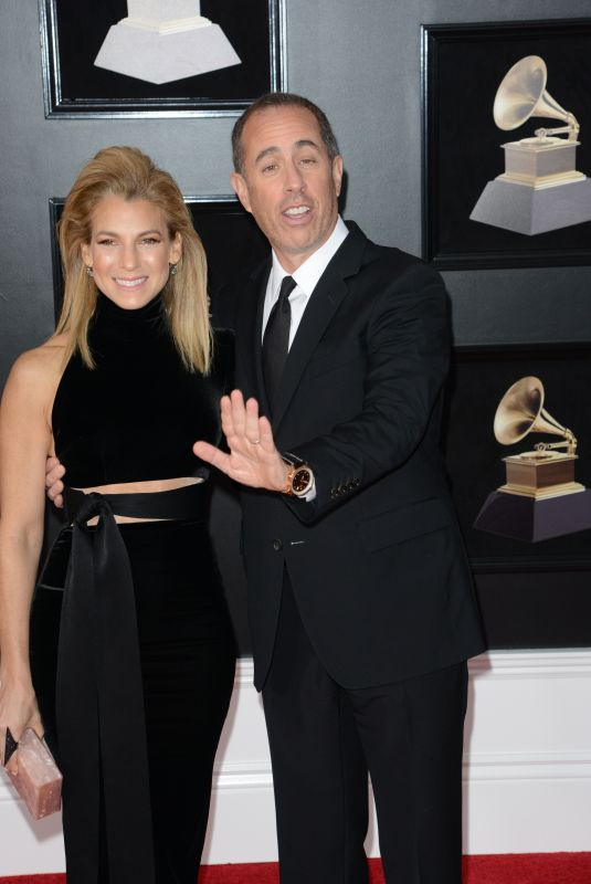 JESSICA and Jerry SEINFELD at Grammy 2018 Awards in New York 01/28/2018