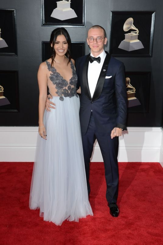 JESSICA ANDREA and Logic at Grammy 2018 Awards in New York 01/28/2018