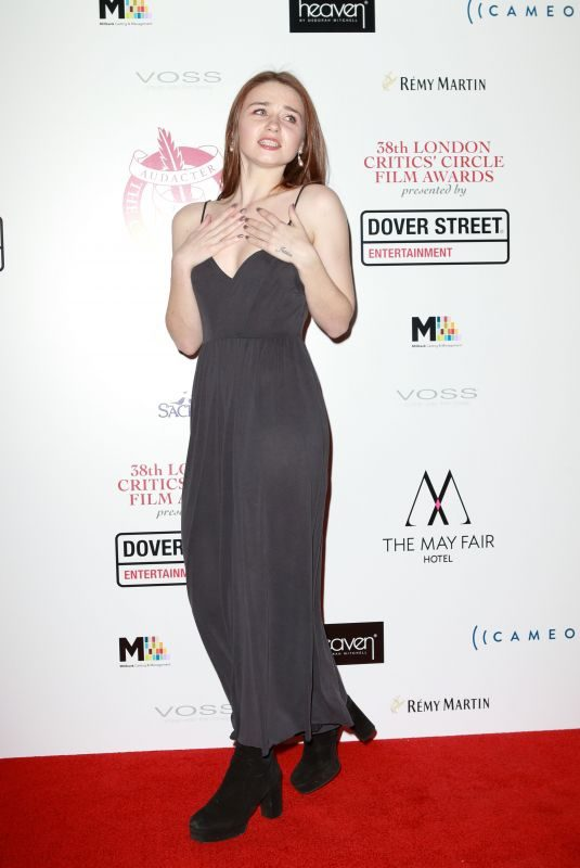 JESSICA BARDEN at 2018 London Critics Circle Film Awards in London 01/28/2018