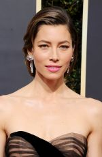 JESSICA BIEL at 75th Annual Golden Globe Awards in Beverly Hills 01/07/2018