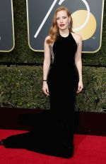 JESSICA CHASTAIN at 75th Annual Golden Globe Awards in Beverly Hills 01/07/2018