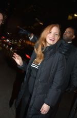 JESSICA CHASTAIN at SNL Afterparty in New York 01/20/2018