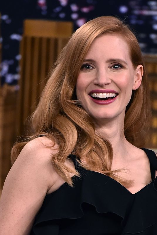 JESSICA CHASTAIN at Tonight Show Starring Jimmy Fallon in New York 01/18/2018