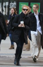 JESSICA CHASTAIN Heading to Host Saturday Night Live in New York 01/20/2018