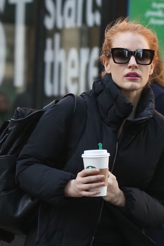 JESSICA CHASTAIN Heading to NBC Studios in New York 01/20/2018