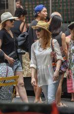 JESSICA CHASTAIN Shopping at a Market in Sydney 01/27/2018