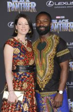 JESSICA OYELOWO at Black Panther Premiere in Hollywood 01/29/2018