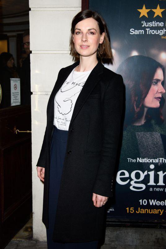 JESSICA RAINE at Beginning Opening Night at Ambassadors Theatre in London 01/23/2018