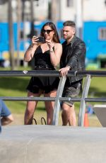 JESSICA SHEARS and Dom Lever Out at Venice Beach 01/24/2018