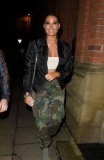 JESSICA WRIGHT Arrives at Mahiki in Manchester 01/27/2018