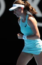 JOHANNA KONTA at Australian Open Tennis Tournament in Melbourne 01/16/2018
