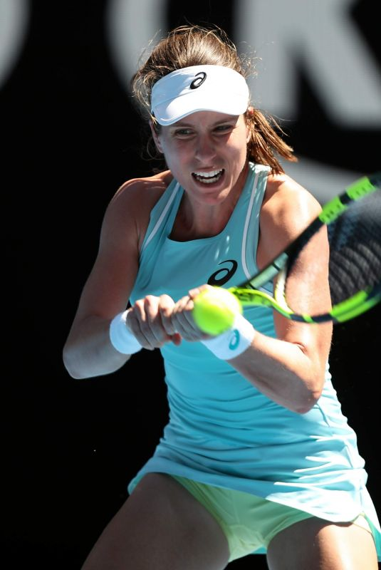 JOHANNA KONTA at Australian Open Tennis Tournament in Melbourne 01/16/2018
