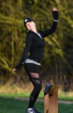 JORGIE PORTER Working Out at a Park in Manchester 01/30/2018