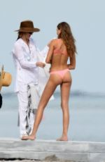JOSEPHINE SKRIVER on the Set of a Photoshoot at a Beach in Malibu 01/17/2018