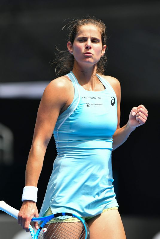 JULIA GOERGES at 2018 Australian Open Tennis Tournament in Melbourne 01/15/2018