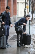 JULIANNA MARGUILES and Keith Lieberthal Leaves Their Apartment in New York 01/12/2018